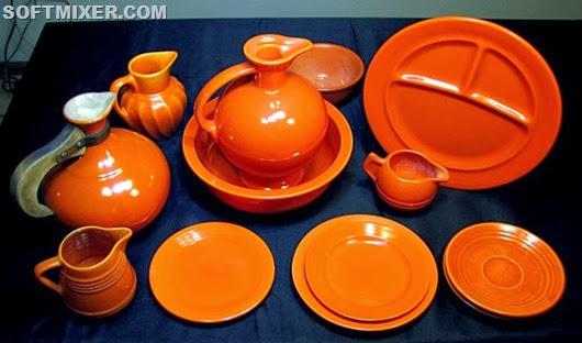 Посуда с урановой глазурью, 30-50 годы 20 века