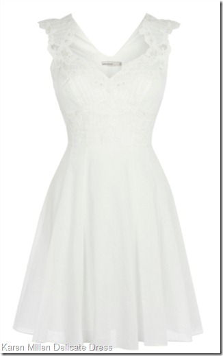 Karen MIllen Delicate embroidery dress