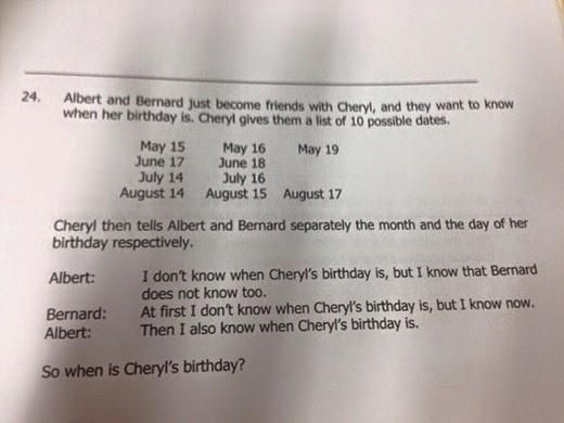 cheryl problem