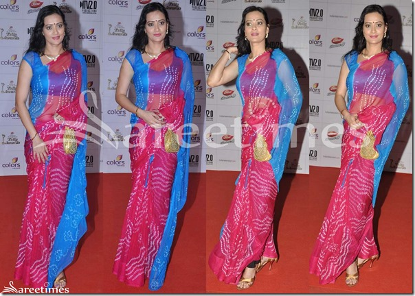 Blue_and_Maroon_Dual_Color_Georgette_Saree