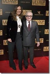 """Roberta Armani et Martin Scorsese<br />Avant première mondiale du """"Loup de Wall-Street"""" au cinema Gaumont Opéra à Paris le 9 décembre 2013"""