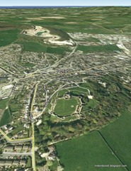 Denbigh looking north to Rhyl [Google Earth]