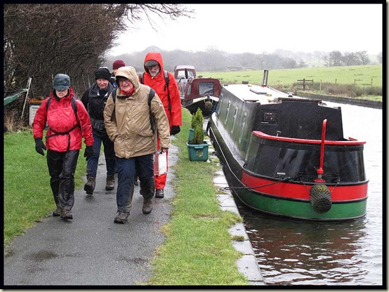 Reg with his flock, by the Leeds and Liverpool Canal