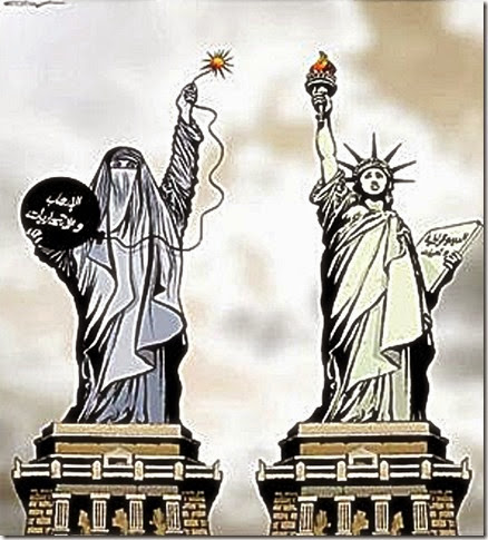 Burka or Lady Liberty