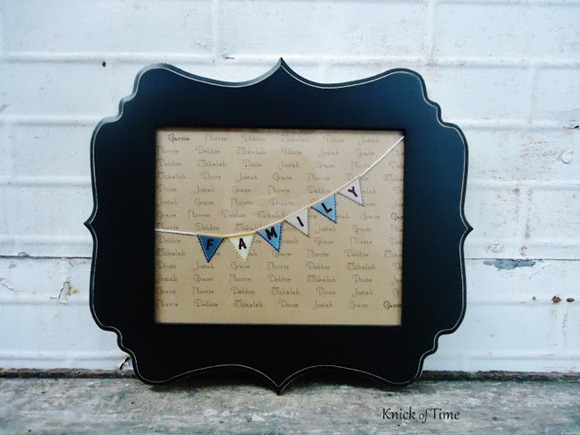 DIY Family Names Framed Print tutorial | www.knickoftime.net