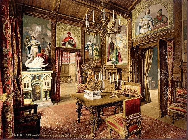 Joseph_Albert_Neuschwanstein_dining_room