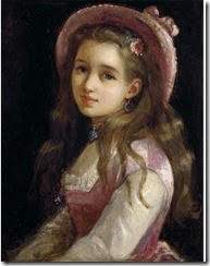 sophie_gengembre_anderson_38_portrait_of_a_young_girl_halflength_in_a_pink_dress_and_hat