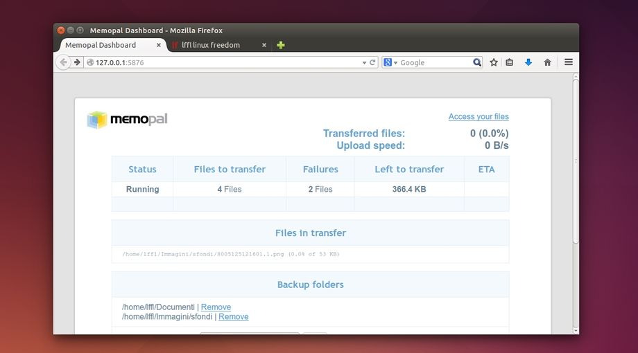 Memopal in Ubuntu