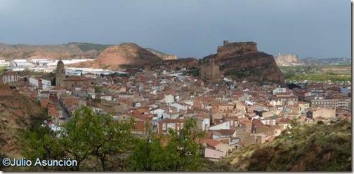 Arnedo desde el poblado celtíbero del Cerro de San Miguel