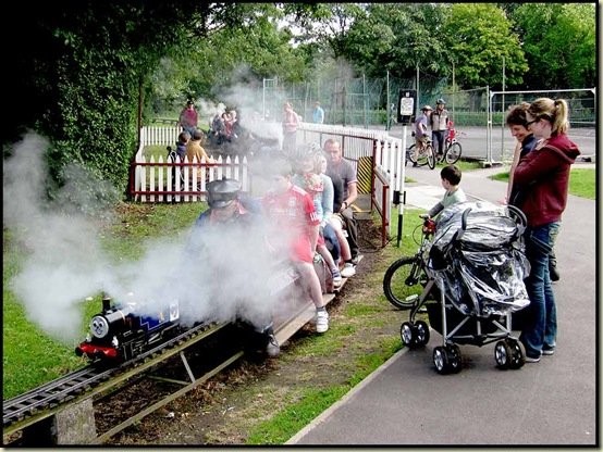 Walton Park's miniature railway