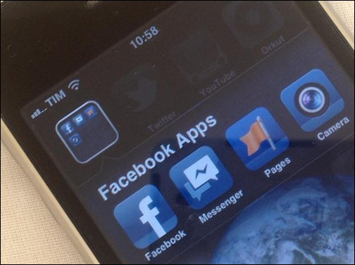 Pages, Messenger e Camera. Apps mobile do Facebook