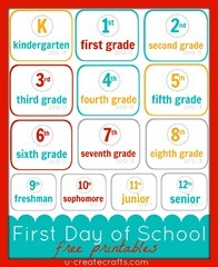 First Day of School Free Printables k-12[9]