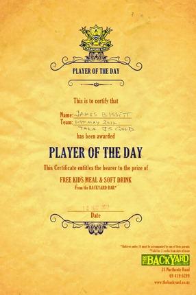 James PoD Certificate