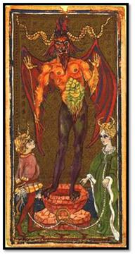 Diablo. Tarot de Visconti Sforza