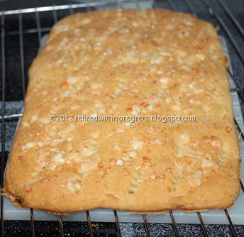 Easy Focaccia - Gluten-free - just out of oven