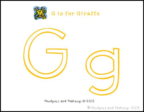 Giraffe Printables 1