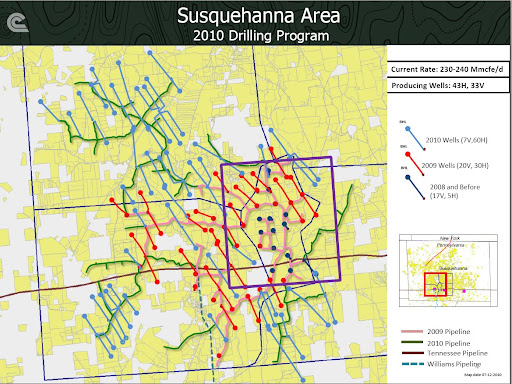 Cabot Susquahanna - from Dec. 2010 Presentation Showing Gathering Lines and Field Expansion