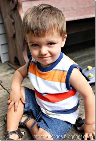 Refashioning Men's T-Shirt into Boy's Muscle Shirt