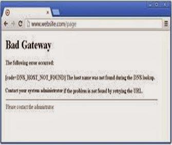 502 gateway error