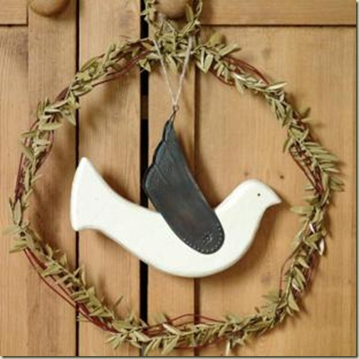 Dove wreath