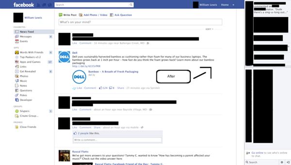 Facebook Ad Remover