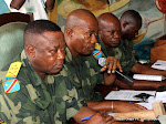 Les juges militaires membres de la Cour militaire ce 9/05/2011  Kinshasa, lors du procs Chebeya  la prison centrale de Makala. Radio Okapi/ Ph. John Bompengo