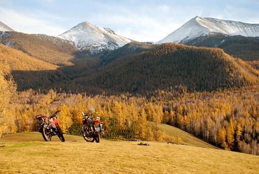 Xinjiang, Baihaba - Vallée & Moto