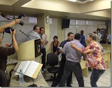 Briga na Câmara Criciúma