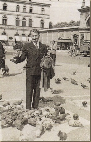 Willy Balla feeding the pigeons - circa 1936 (lower res)