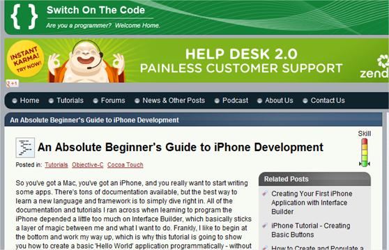 10 sitios web con tutoriales para empezar a desarrollar para el iPhone