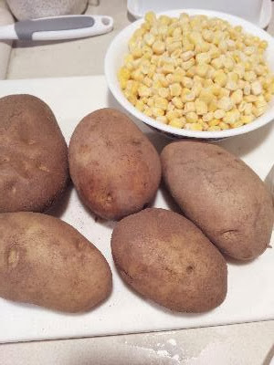 potatoes and corn