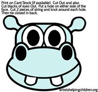 hippos-masks-printables