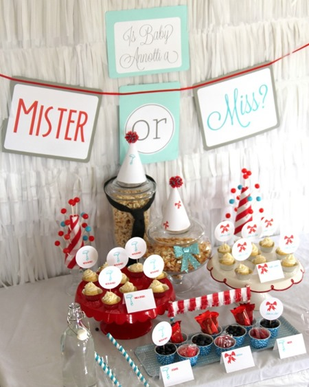 Mister or Miss? Gender Reveal Party by Shiny Happy Sprinkles