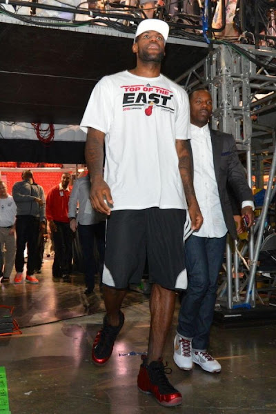 James Wears Red Foams Postgame amp Equips Team LeBron in Game 7