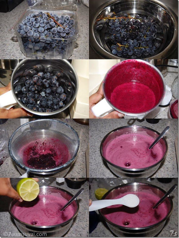 Grape juice process