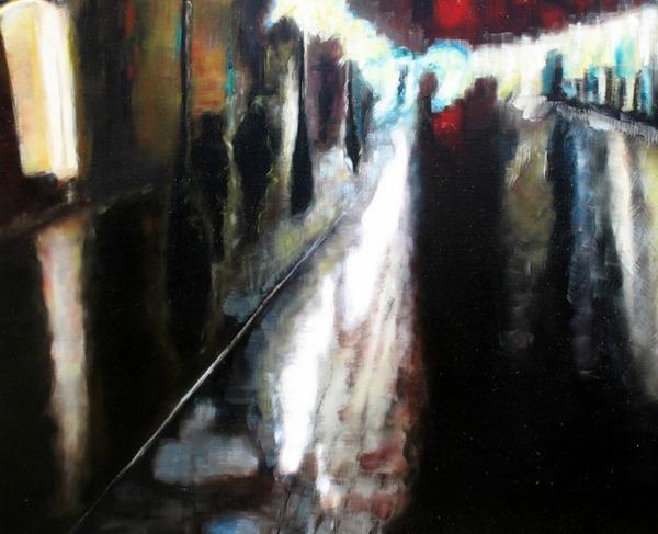 Ivan Forloni - Visione #1 - 2011 - olio su tela 80 x 100