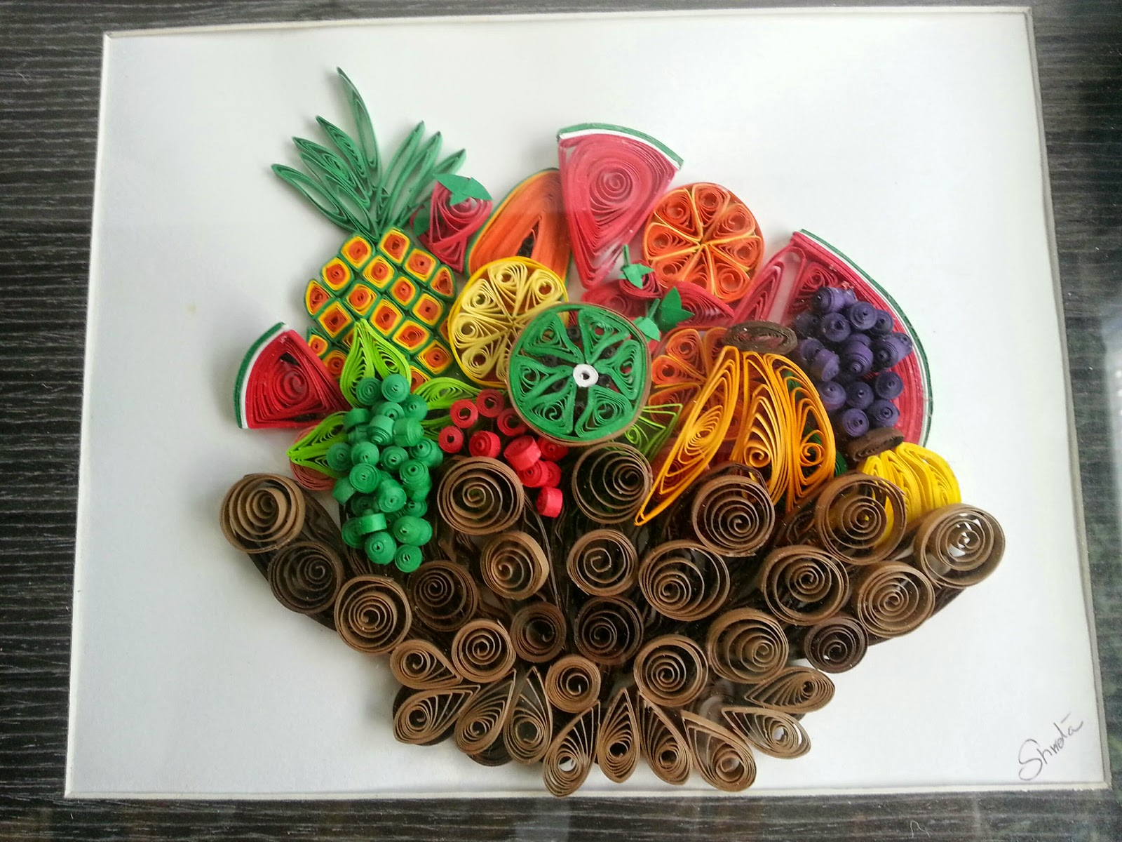 arts from shweta  quilling fruit basket