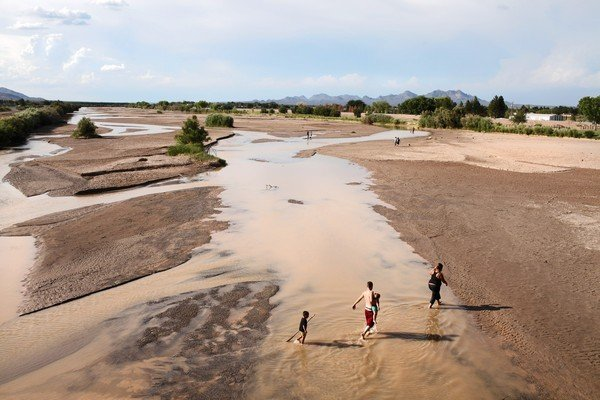 In New Mexico in Summer 2013, water levels in the once-mighty Rio Grande are so low that it is often referred to as the 'Rio Sand'. In some parts of the state, officials fear ecosystems are collapsing. Photo: MICHAEL ROBINSON CHAVEZ / Los Angeles Times