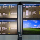 terrible sight at Vancouver Internation Airport still running on Windows XP in Vancouver, British Columbia, Canada