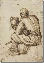 circle_of_jacob_de_gheyn_ii_a_seated_man_with_a_sword_and_a_jug_d5649748h