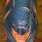 batman - Leg Tattoos Designs