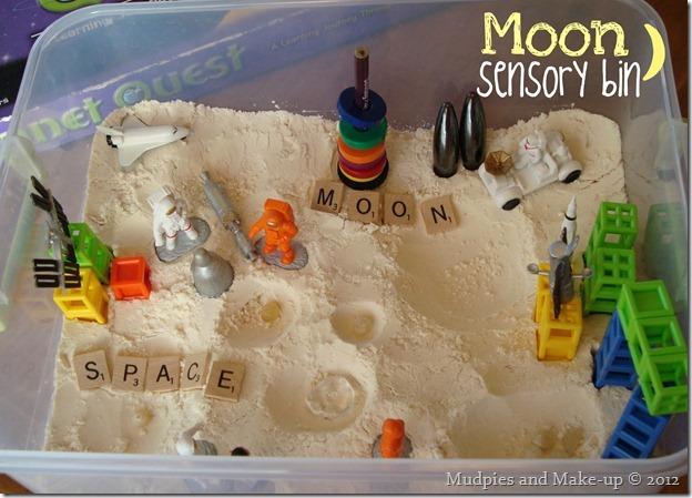 Moon Sensory Bin