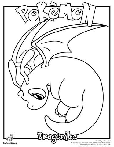 dragonite-desenho-pokemon-colorir
