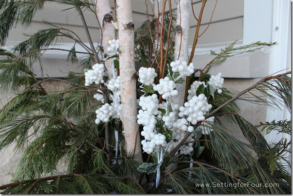 Winter white urn from Setting for Four #decor #urn