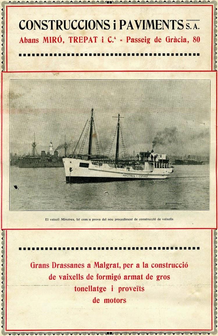 Panfleto de propaganda de los Astilleros de Malgrat, para construcción de buques de cemento armado. Revista Catalunya Marítima. Año 1.919.JPG