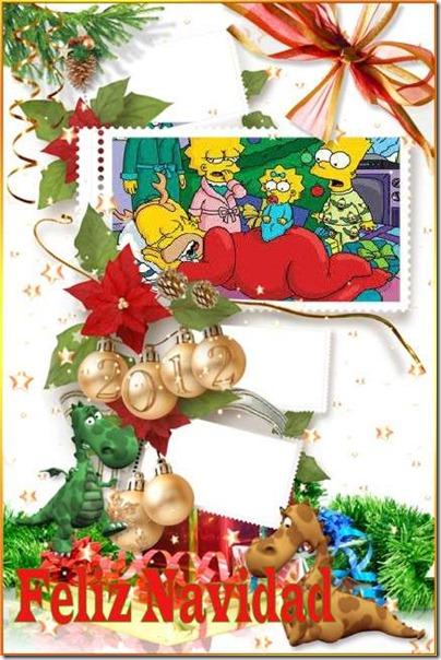 todonavidad. postales simpsom (6)