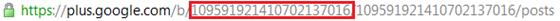 Números de URL de página no Google