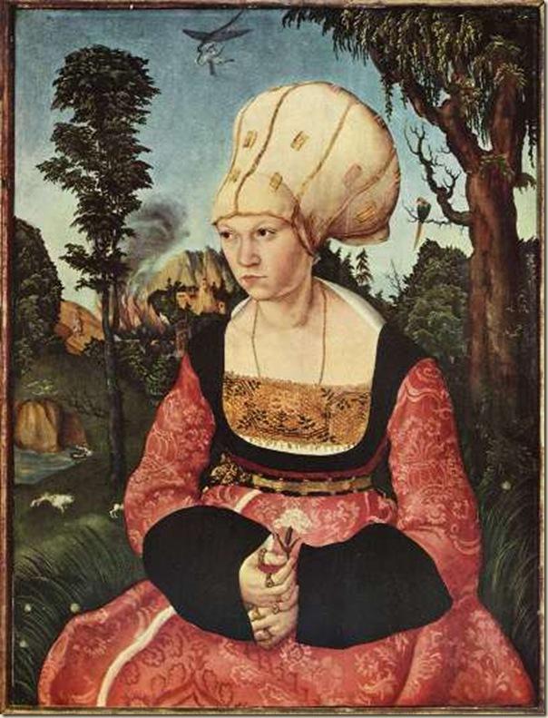 Lucas Cranach, Portrait d'Anna Cuspinian
