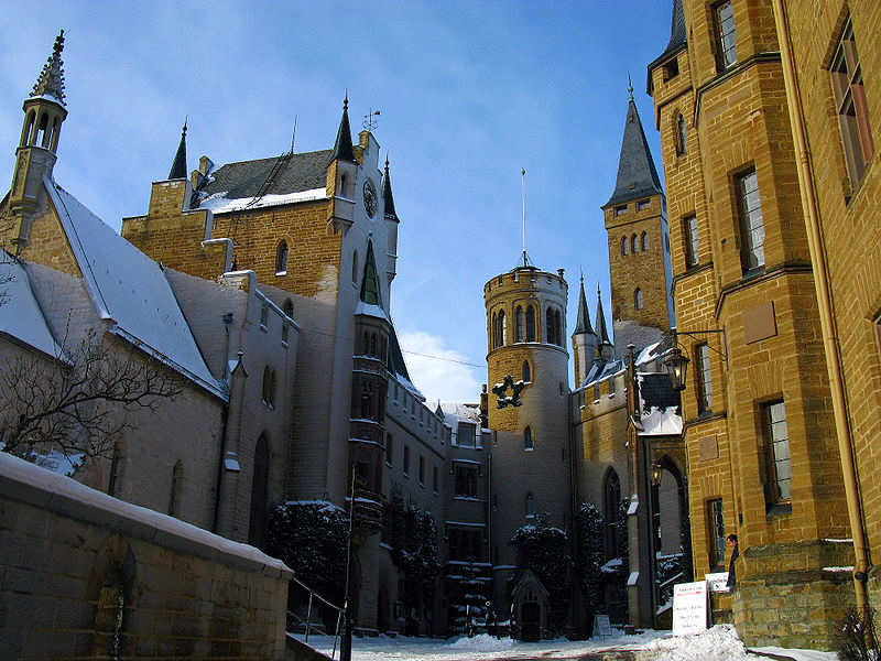 Hohenzollern Castle - Germany: the historical seat of the Prussian Kings and German Emperors located 60km south of Stuttgart, the capital of the Baden-Wurttemberg state.