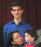 Eidan, Maria, and I waiting for the group photo to be taken